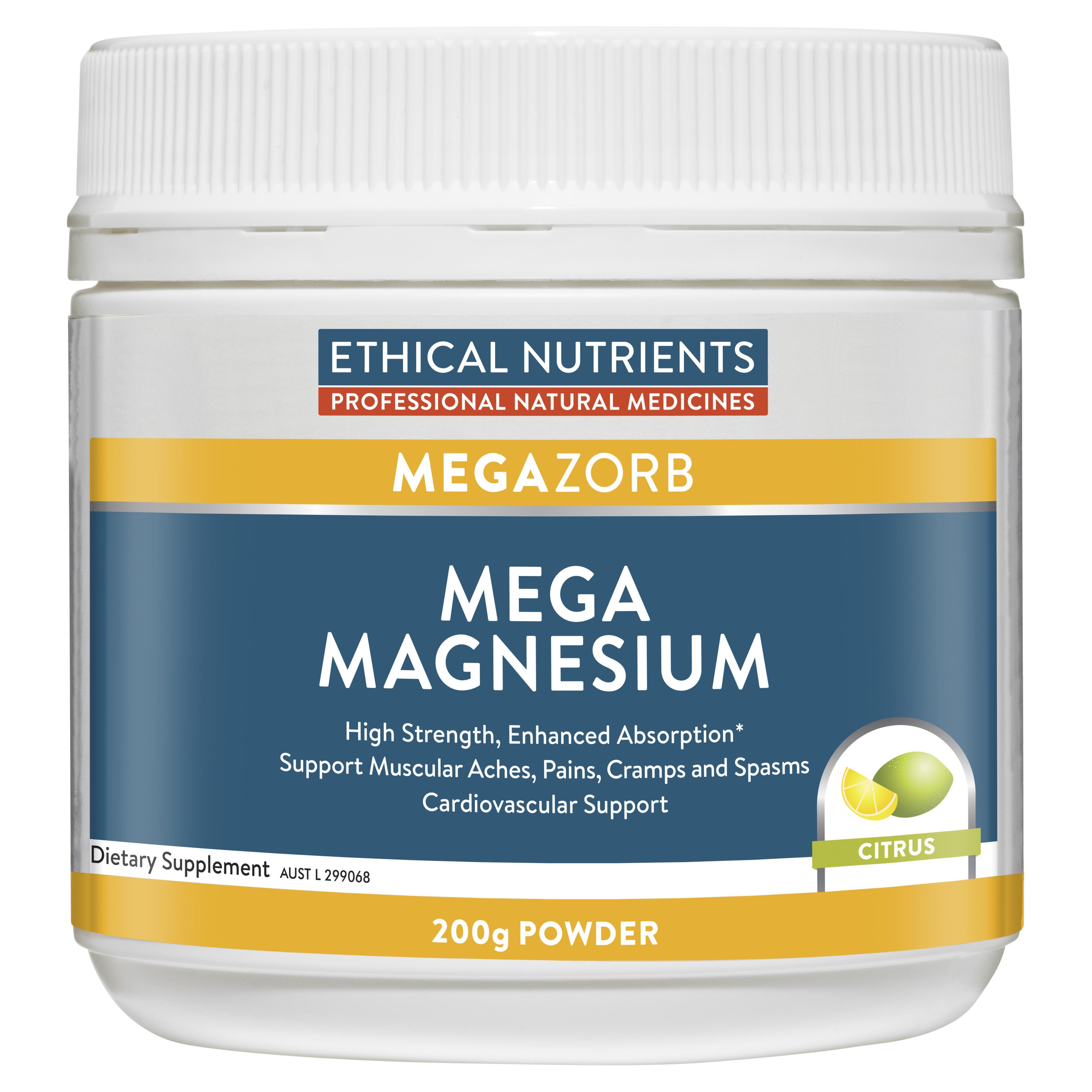 Ethical Nutrients MEGAZORB Mega Magnesium Citrus 200g