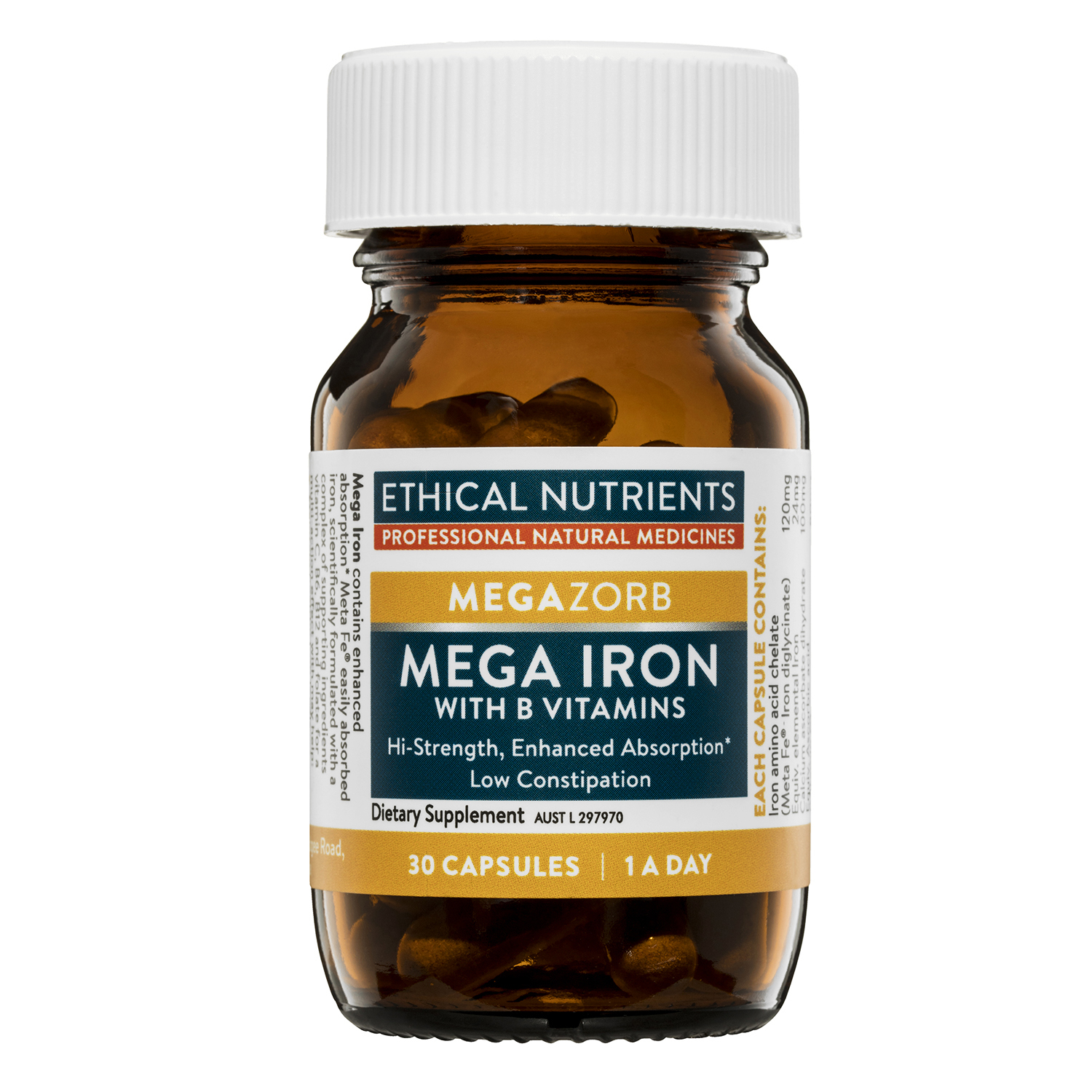 Ethical Nutrients Megazorb Mega Iron with Activated B's