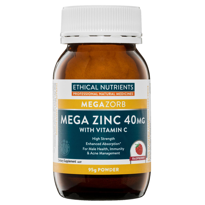 Ethical Nutrients Megazorb Mega Zinc Powder Raspberry 95g