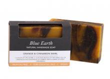 Blue Earth Orange and Cinnamon Swirl Soap